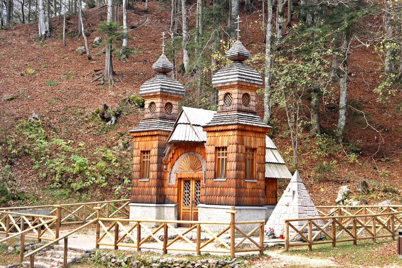 Russian Orthodox chapel in Vršič.