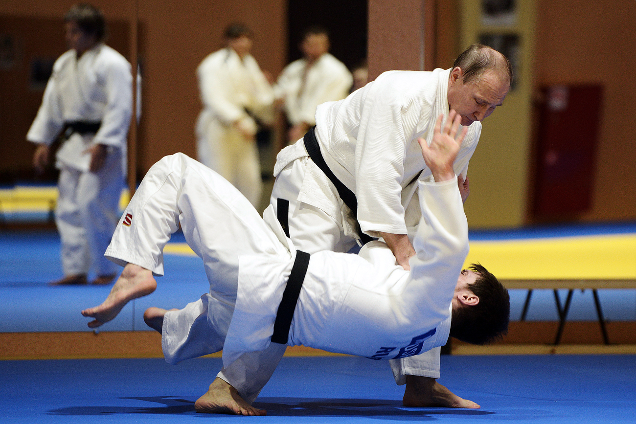 Além de lutador, Pútin é presidente honorário da União Europeia de Judô