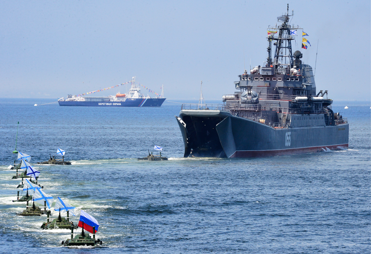 Celebrations marking the Russian Navy Day at the Russia's Far East port of Vladivostok.