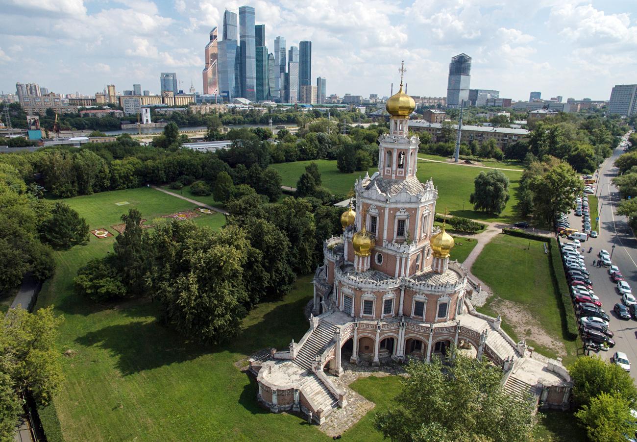"""У позадини: Међународни пословни центар """"Москва Сити"""""""
