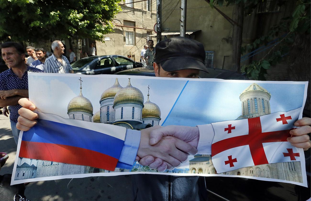 Auch der Kaukasuskrieg konnte Russen und Georgier nicht endgültig entzweien.