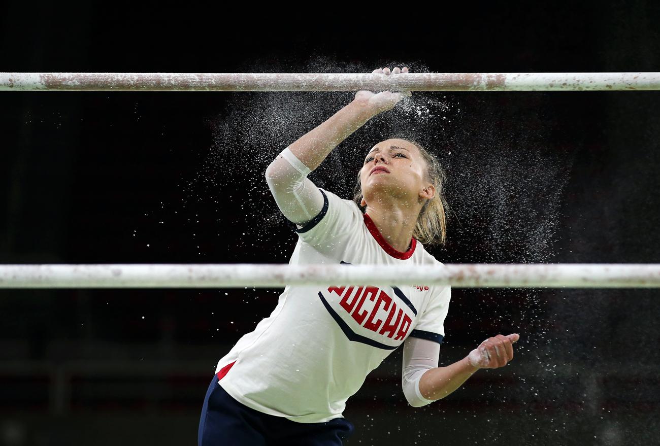 2016 Rio Olympics - Gymnastics training - Rio Olympic Arena - Rio de Janeiro, Brazil