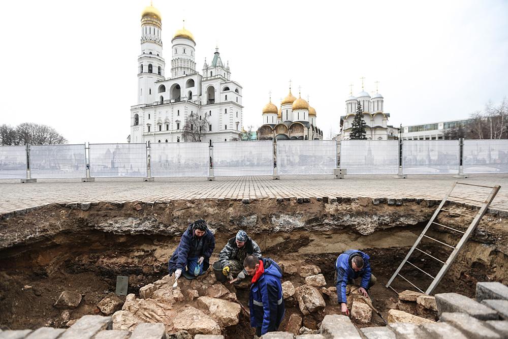 Le cupole del Cremlino di Mosca.