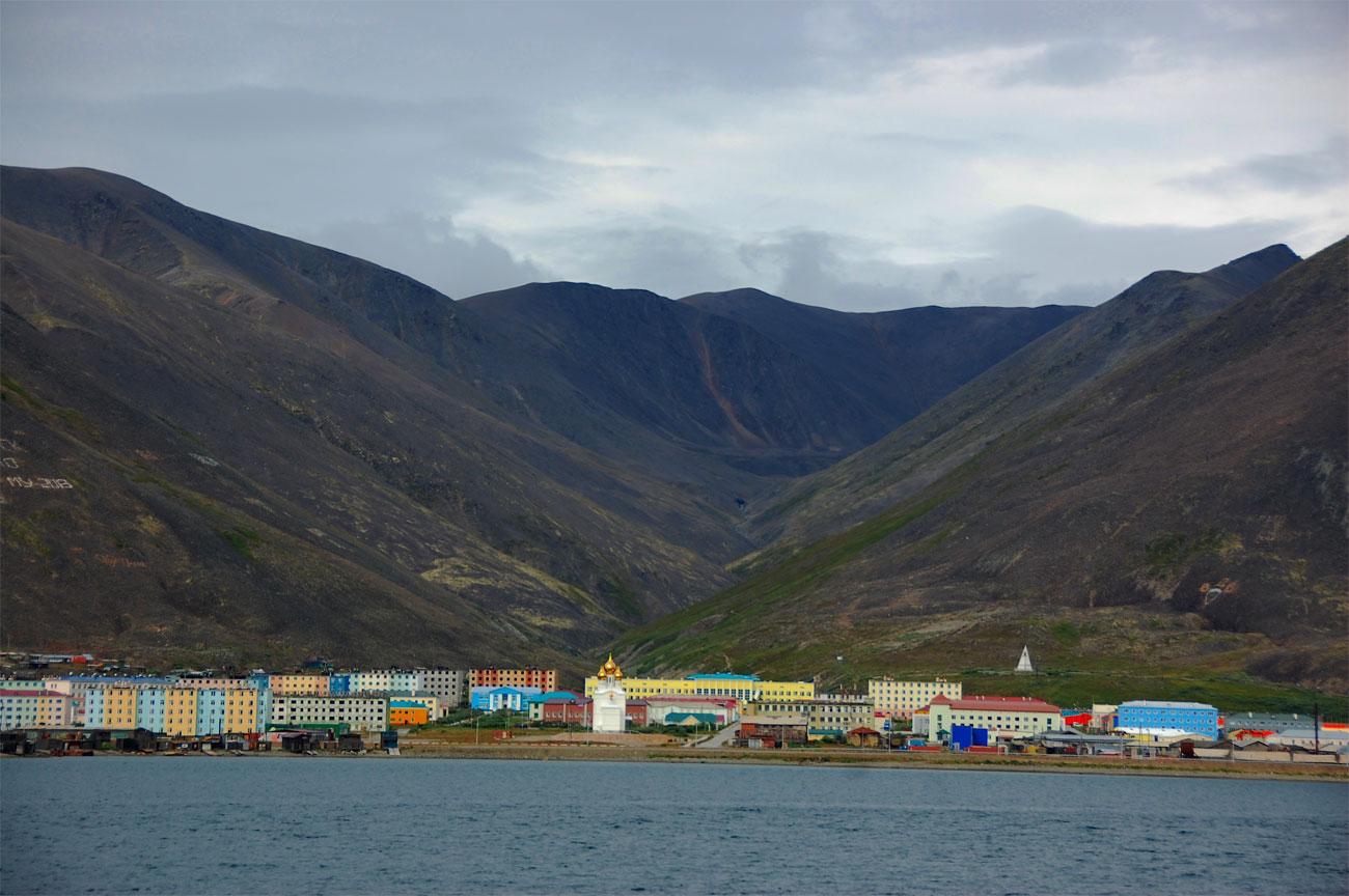 The tiny village of Egvekinot.
