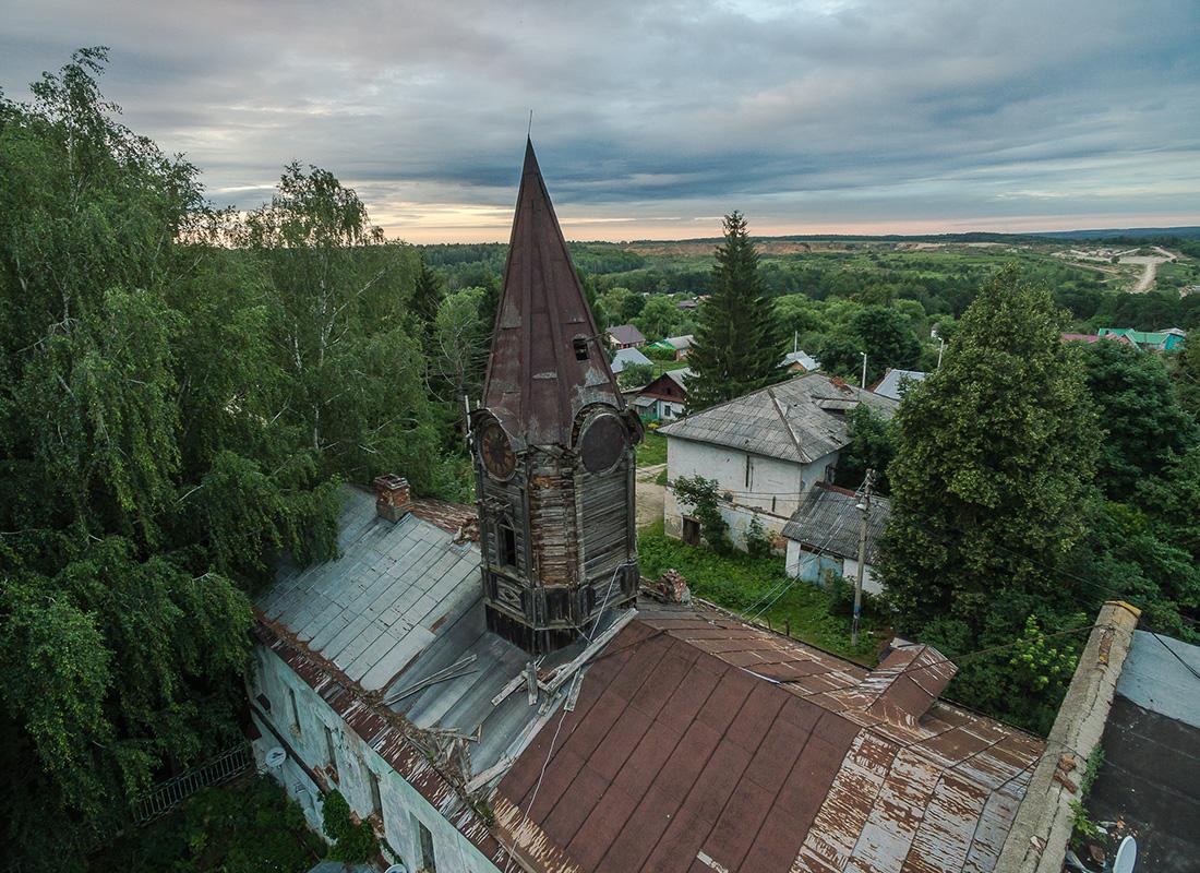 アレクシンに所在するコロソヴォの翼にあたり、19世紀後半に建造された木造の時計塔。