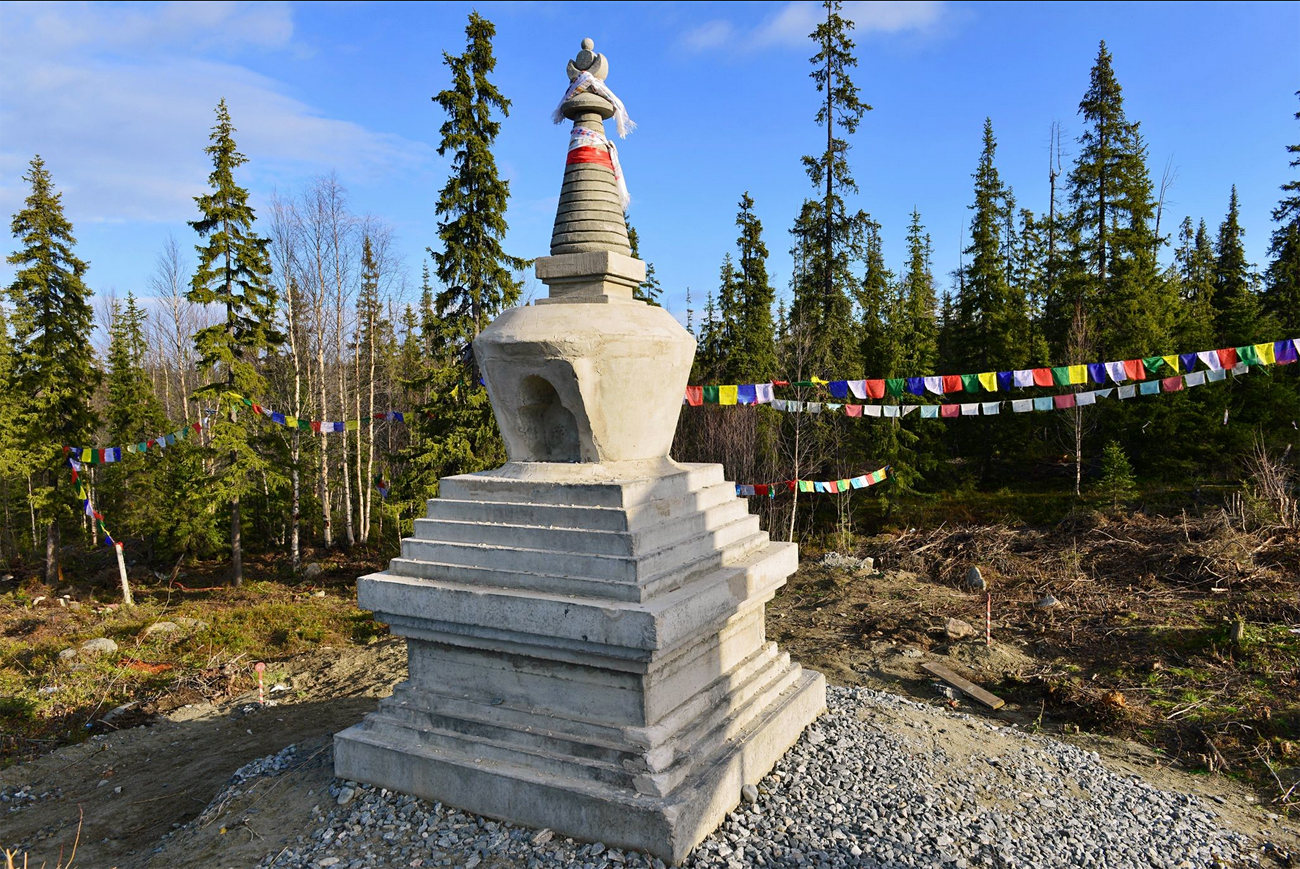 Stupa in Apatity.