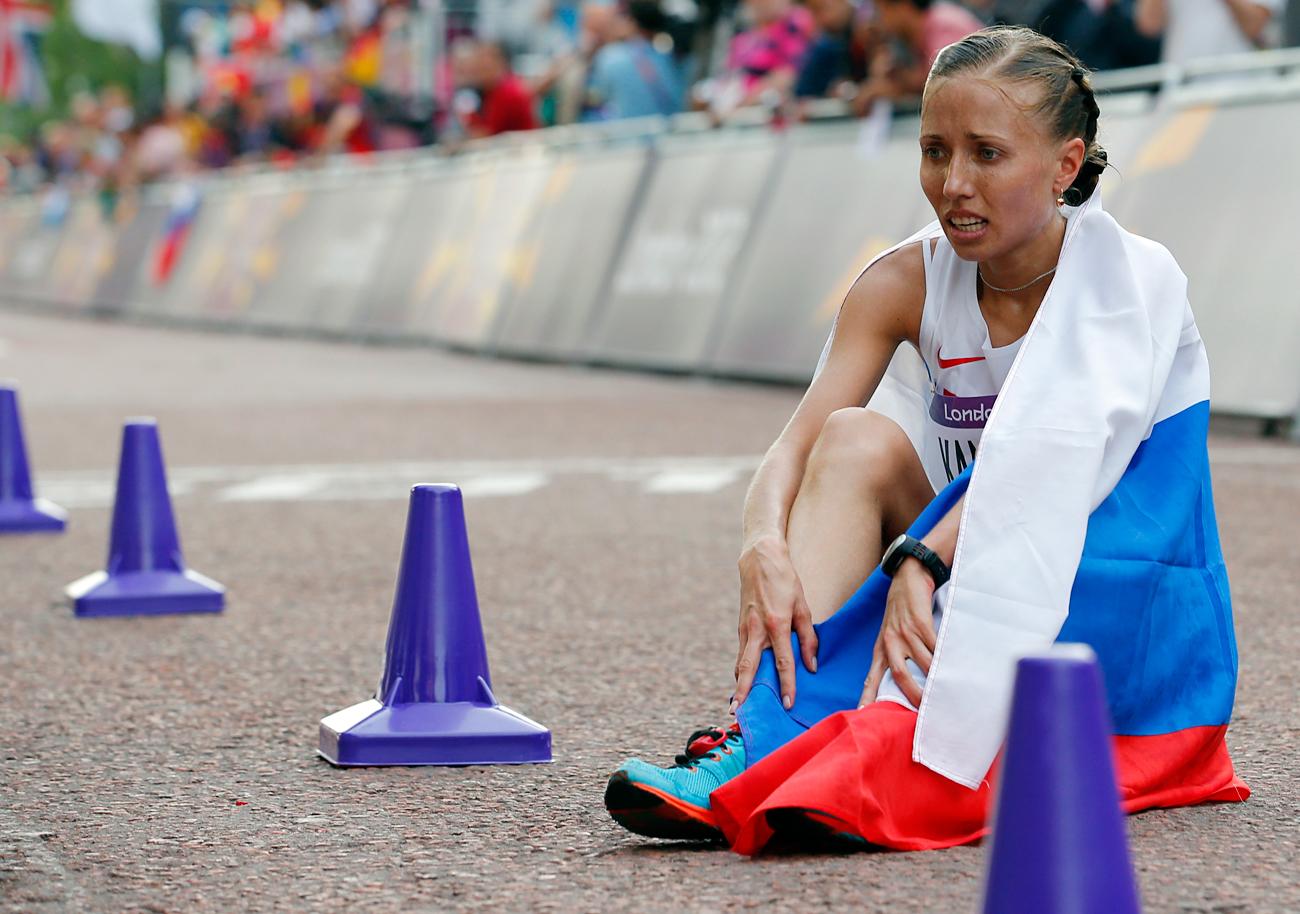 Der russischen Geherin und Olympiasiegerin von Peking 2008 Olga Kaniskina wurden wegen Dopings rückwirkend alle Titel ab 2009 aberkannt. Sie verlor damit ihre Silbermedaille der Olympischen Spiele in London 2012.