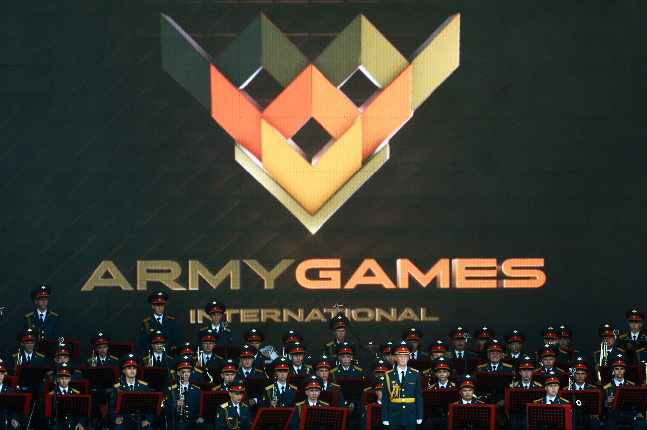 The opening ceremony for the International Army Games 2016 in Kubinka outside Moscow.