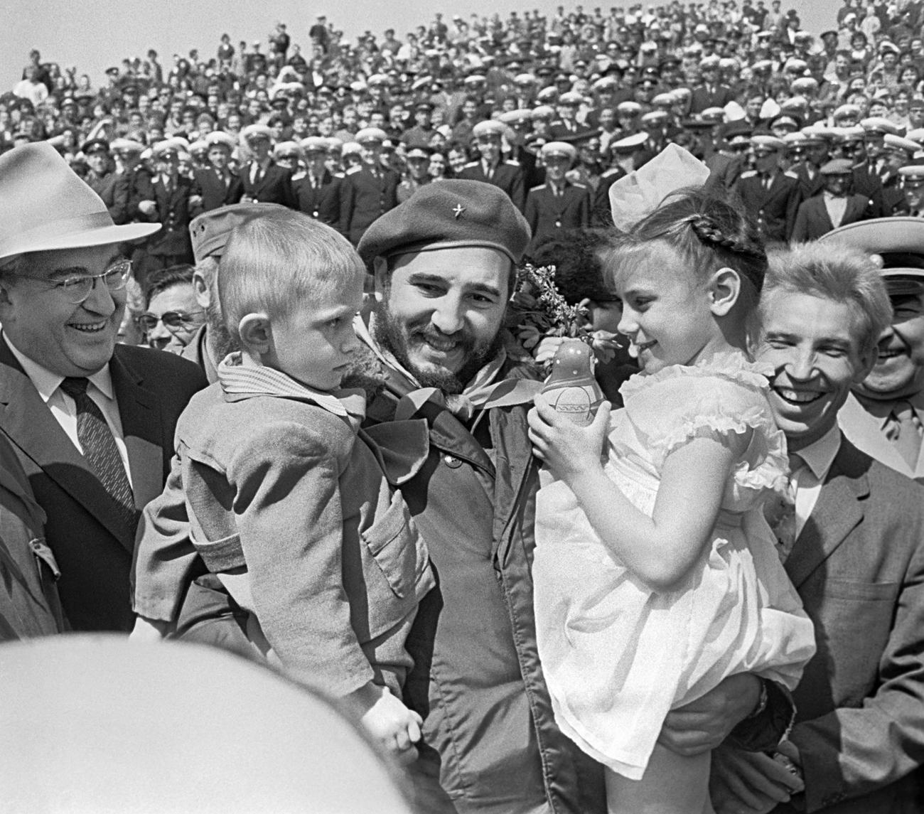 Fidel Castro en Volgogrado en 1962.