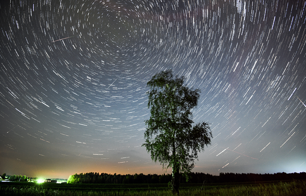 The 2016 Perseid meteor shower as seen from Moscow Region, Russia.