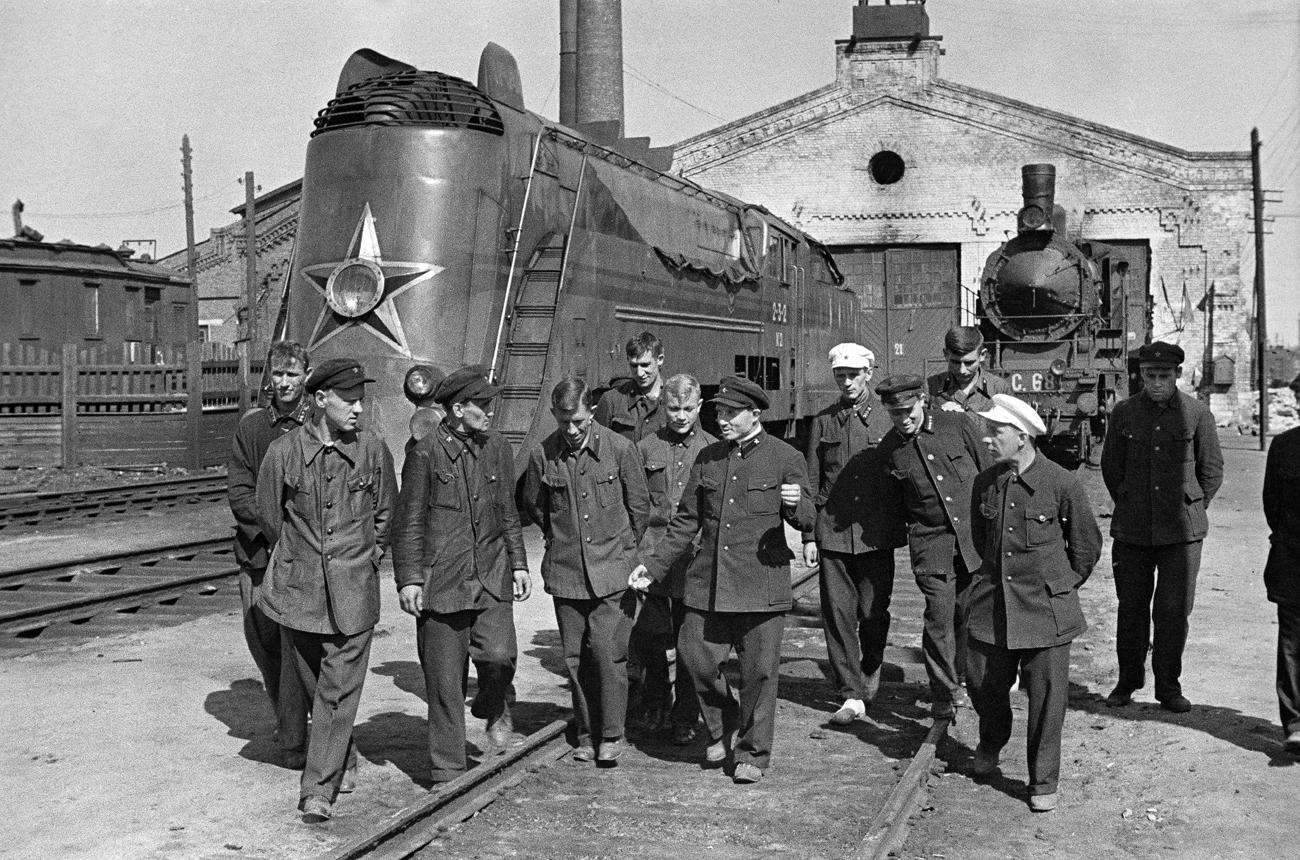 Stalin railway shop of the October railroad in Moscow, 1939. Source: Anatoliy Garanin/RIA Novosti