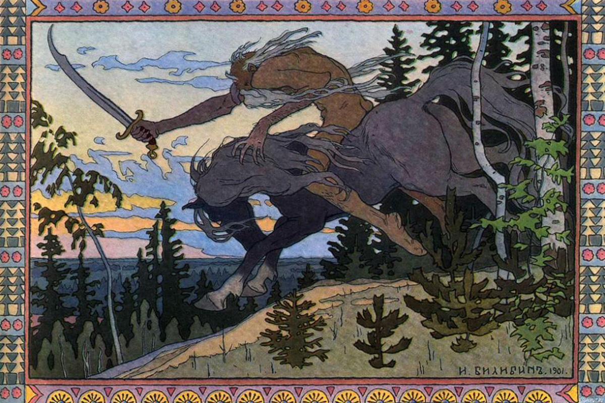 有名なロシアのイラストレーターで、ロシアフォークロアの解釈に秀でたイヴァン・ビリビンは、140年前の8月16日に生まれた。