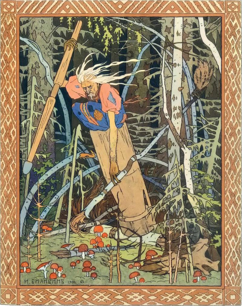 Navdih je prišel v obliki starodavne Rusije, ki je bila ohromljena, zaprašena in rahlo plesniva. A tudi pod prahom je Bilibin našel lepoto.