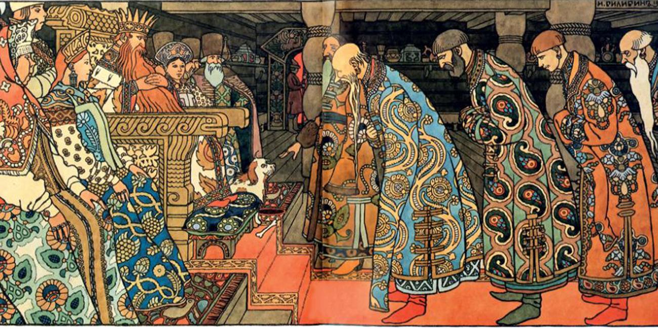 プーシキン作の「サルタン王物語」、「金鶏物語」の挿絵はアレクサンドル3世皇帝記念ロシア美術館およびトレチャコフ美術館に収蔵された。