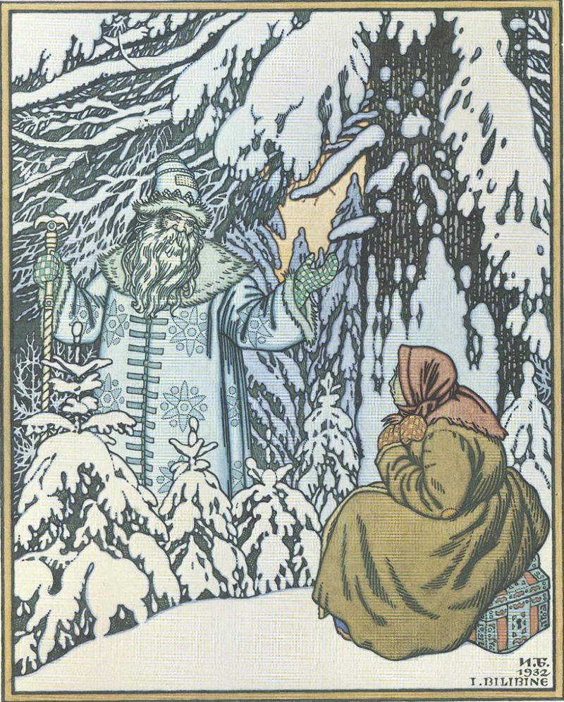"""Ilustração para o conto """"Vovô Gelo"""""""