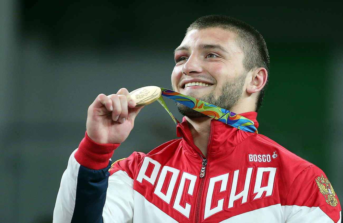 Le champion olympique Davit Chakvetadze.