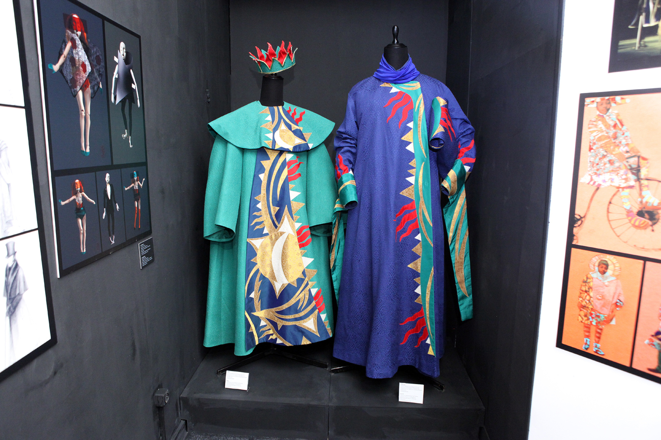 """An exhibition """"Costume at the Turn of the Century: 1990-2015"""" at the A.A. Bakhrushin State Central Theater Museum in Moscow."""
