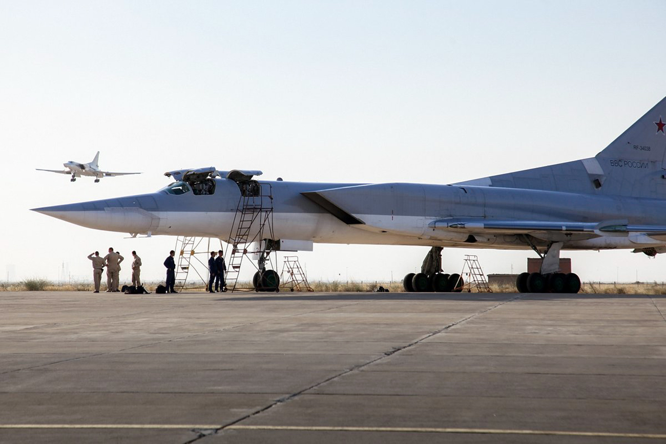 Russian planes at the Hamadan air base in Iran.