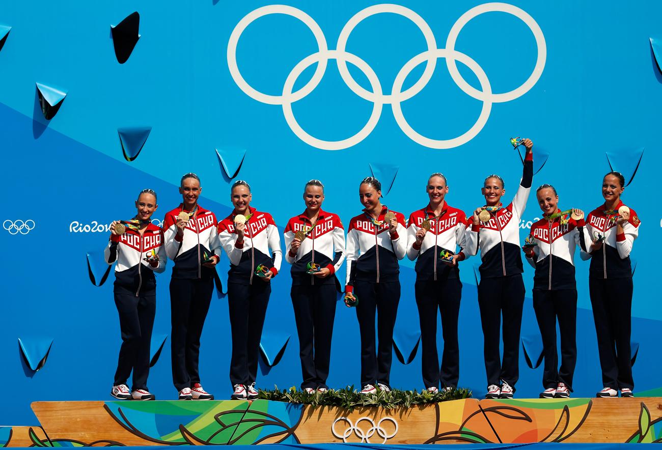Sélection russe de la natation synchronisée.