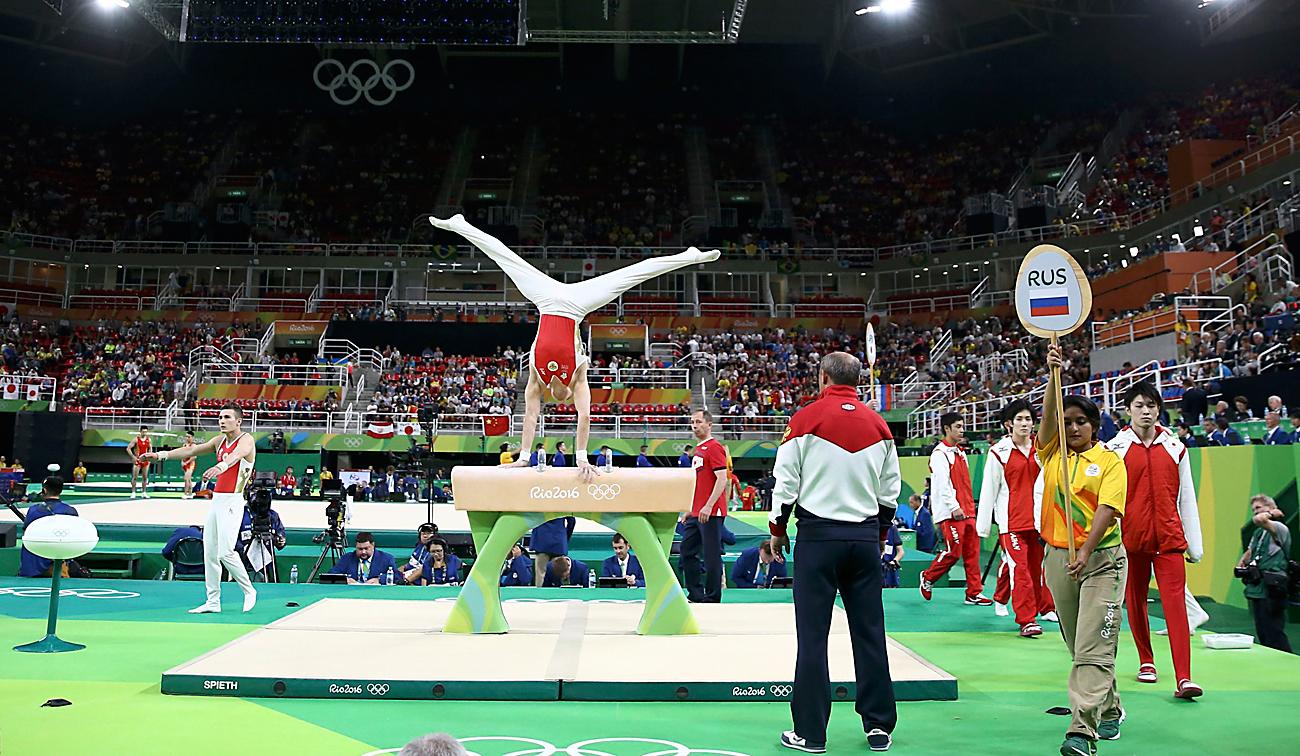 Руски гимнастичари на финалном такмичењу у Рију. Илустрација: Reuters