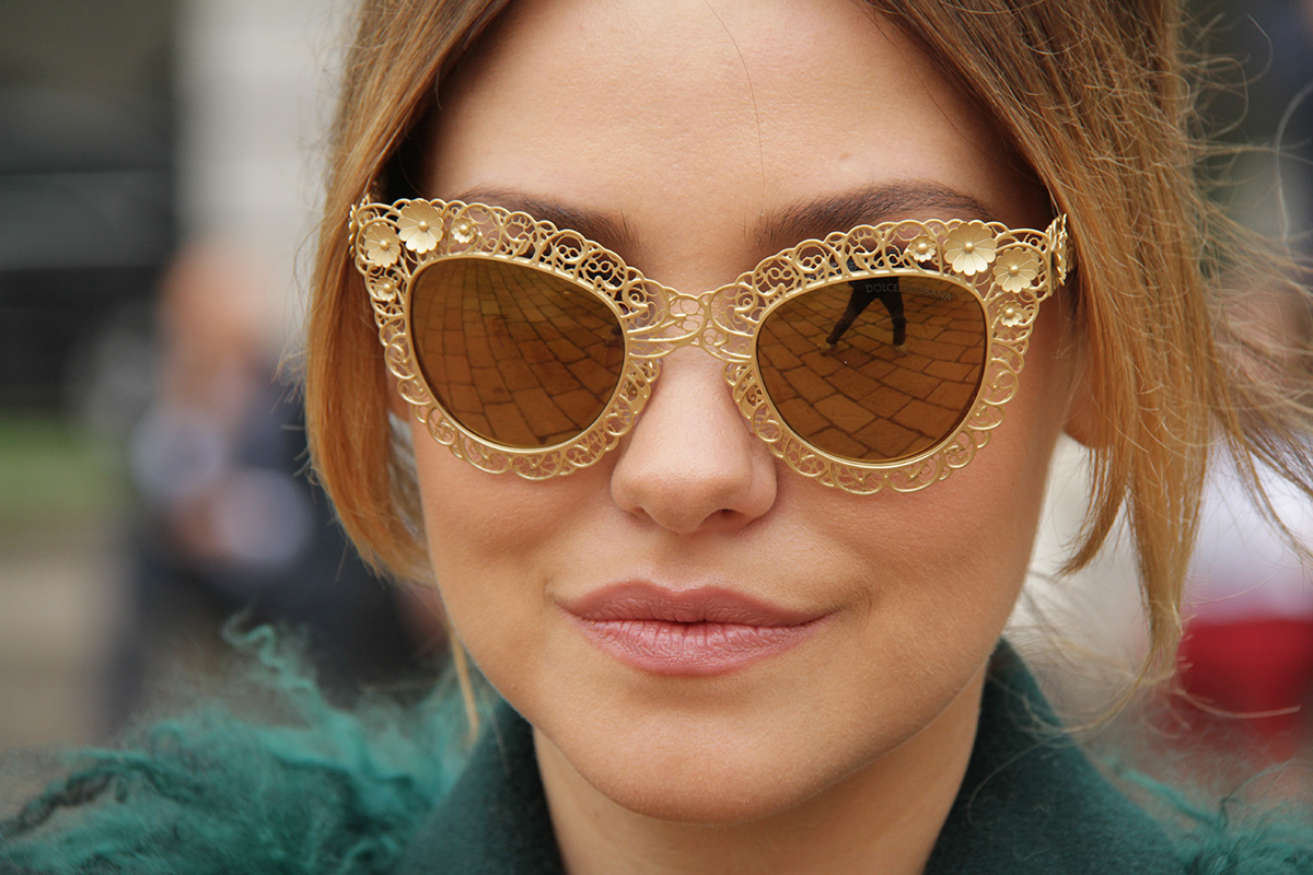Today Kazakovo village is the sole Russian center of filigree plating - one of the most delicate and exquisite forms of jewelry. How do they do that? Watch the video. / Sunglasses from Dolce & Gabbana Fall/Winter 2014 collection.