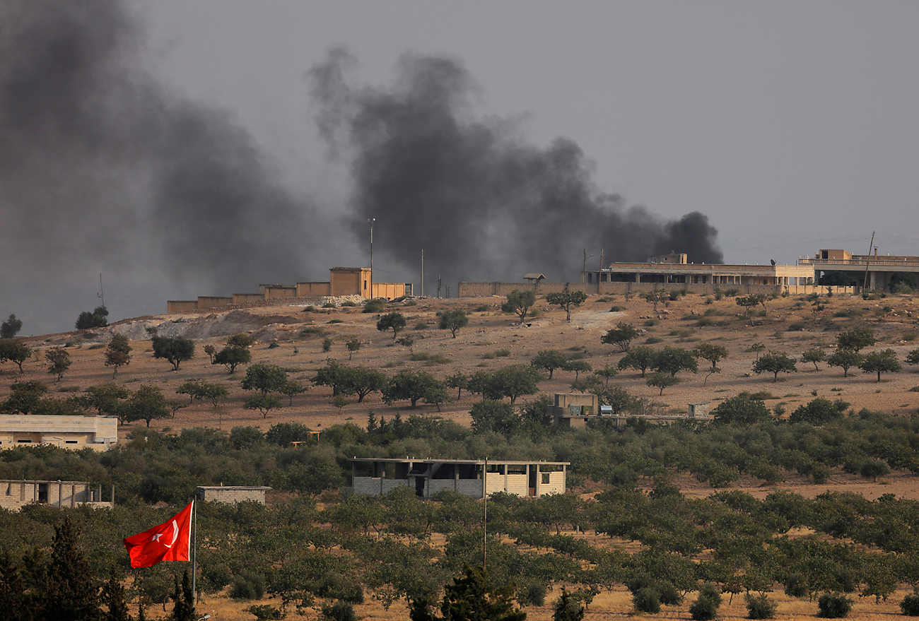 Дим изнад Џараблуса  / Reuters