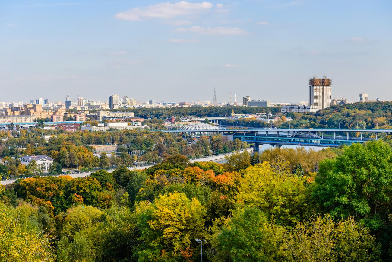 Vista de Moscú desde la Colina de los gorriones.