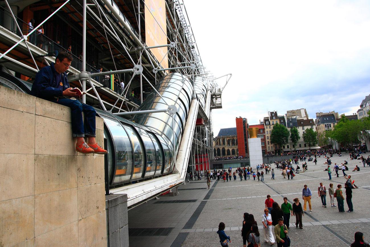 Atualmente, Pompidou recebe mais turistas do que a própria Torre Eiffel