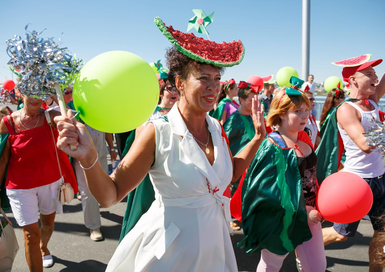 V Volgogradski pokrajini so takole obeležili sezono lubenic.
