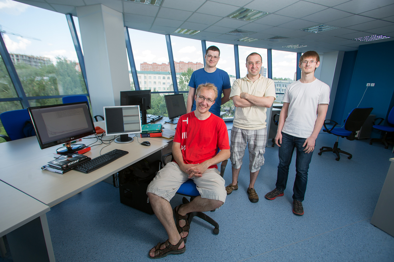 MFTI researchers (left to right): Vladislav Belyaev, Alexei Ozyorin, Valentin Malykh, Dmitry Khusnutdinov.