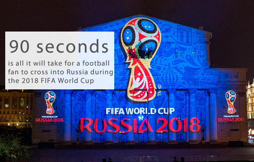 "Foreign soccer fans at the 2018 FIFA World Cup will be able to cross into Russia in just 90 seconds, Russian Deputy Prime Minister Dmitry Rogozin told the TASS news agency on Aug. 31.""We proceed from the assumption that all border crossing checkpoints must be equipped at the airports that have already been chosen by the government as ones that can be used for the World Cup. They must be prepared in time and furnished with all the necessary equipment,"" said Rogozin. ""However, we should bear in mind that the passage of foreign participants and fans will be organized not according to the traditional visa scheme, but with a fan passport. We want to determine time limits - 90 seconds - for issuing a fan passport.""Rogozin noted that this border control scheme will be implemented for the first time.2018 World Cup matches will be held from June 14 to July 15, 2018, at 12 stadiums in 11 Russian cities: Moscow, St. Petersburg, Kazan, Nizhny Novgorod, Saransk, Kaliningrad, Volgograd, Yekaterinburg, Samara, Sochi and Rostov-on-Don. How much is Russia spending on building stadiums for the 2018 World Cup?"