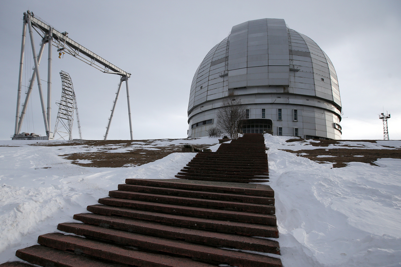 The Special Astrophysical Observatory near the village of Nizhny Arkhyz.