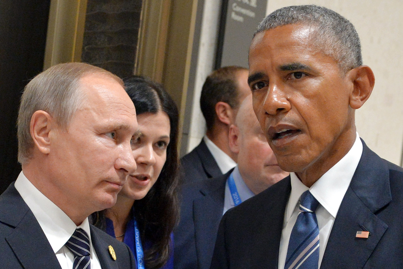 Wladimir Putin und Barack Obama beim letzten Treffen auf G20.