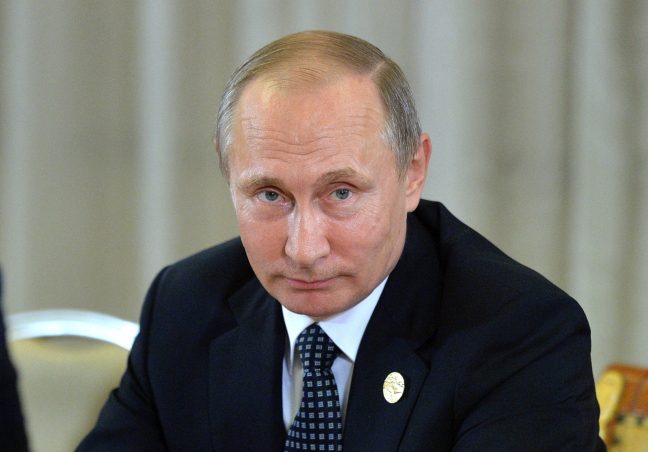 Russian President Vladimir Putin at the G20 summit in Hangzhou.