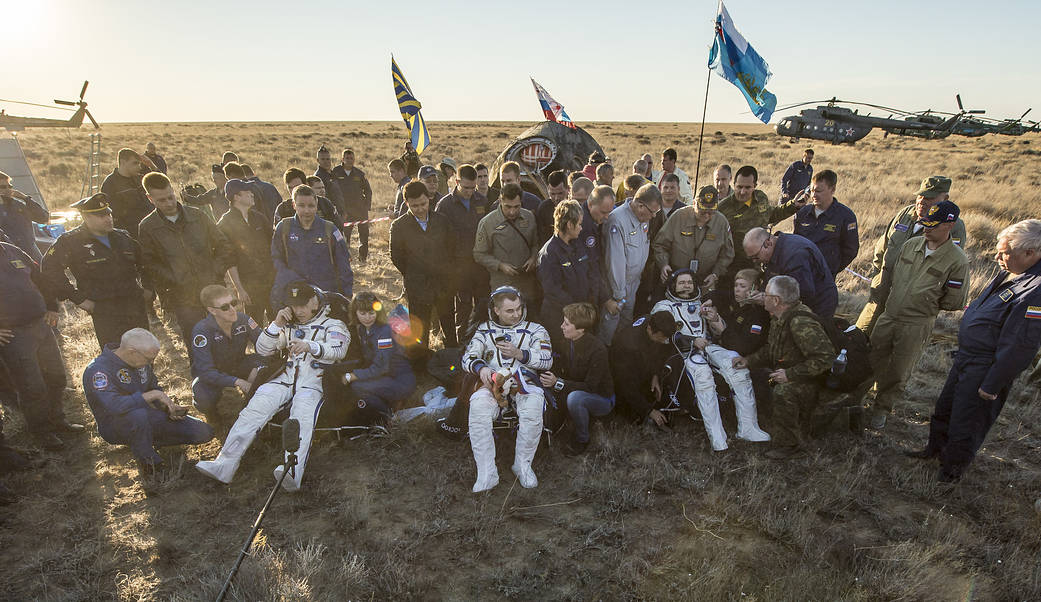 Expedition 48 crew lands safely on Earth.