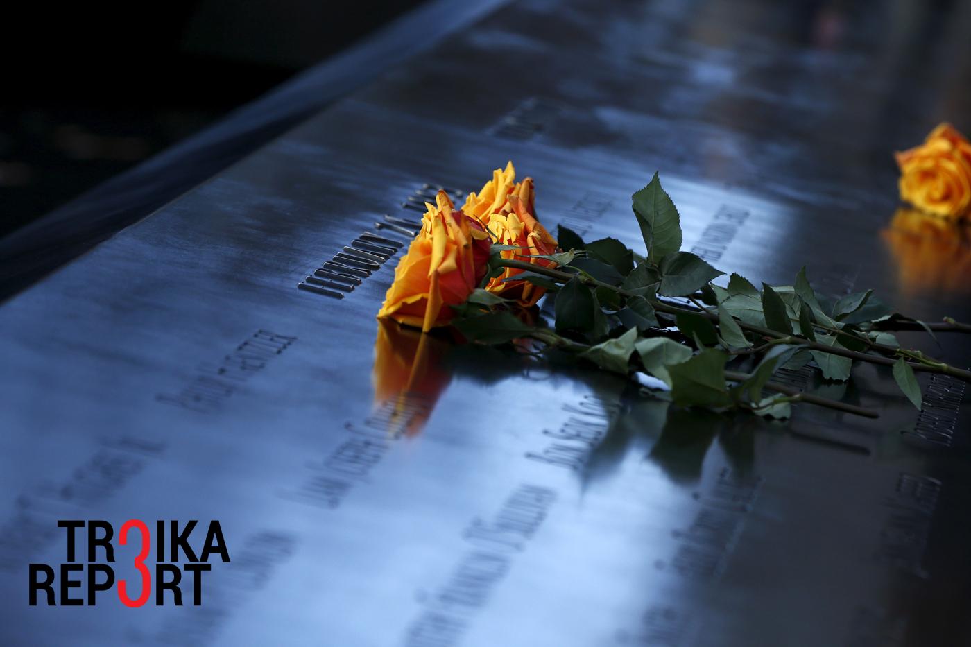 Rože v spominskem parku, postavljenem v spomin na napade 11. septembra. Vir: Reuters.