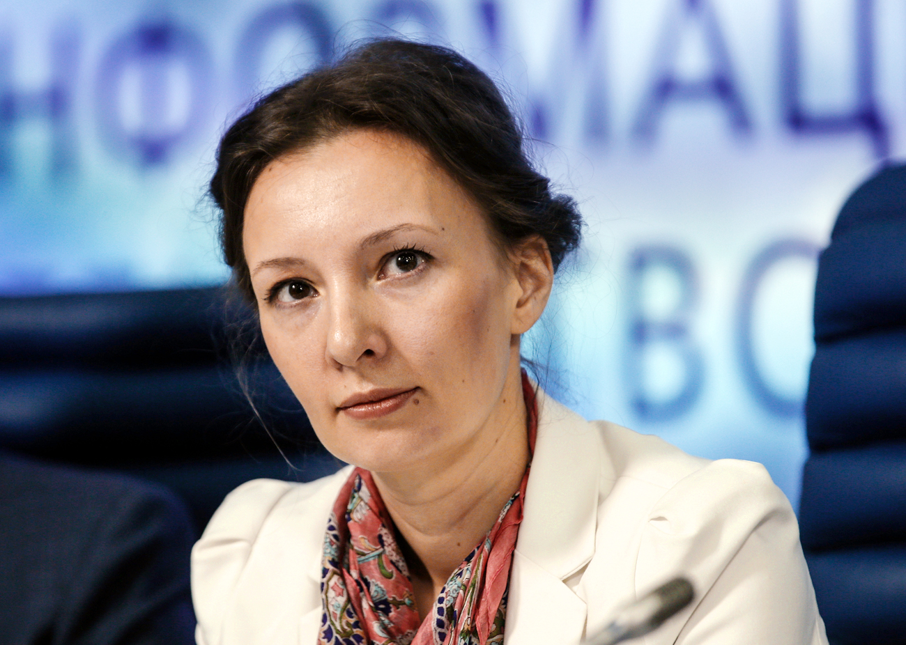 New children's ombudsman Anna Kuznetsova.