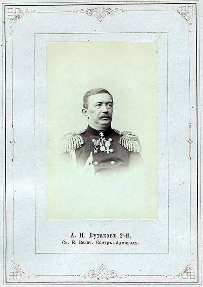 Naval officer Alexei Butakov, 1865.