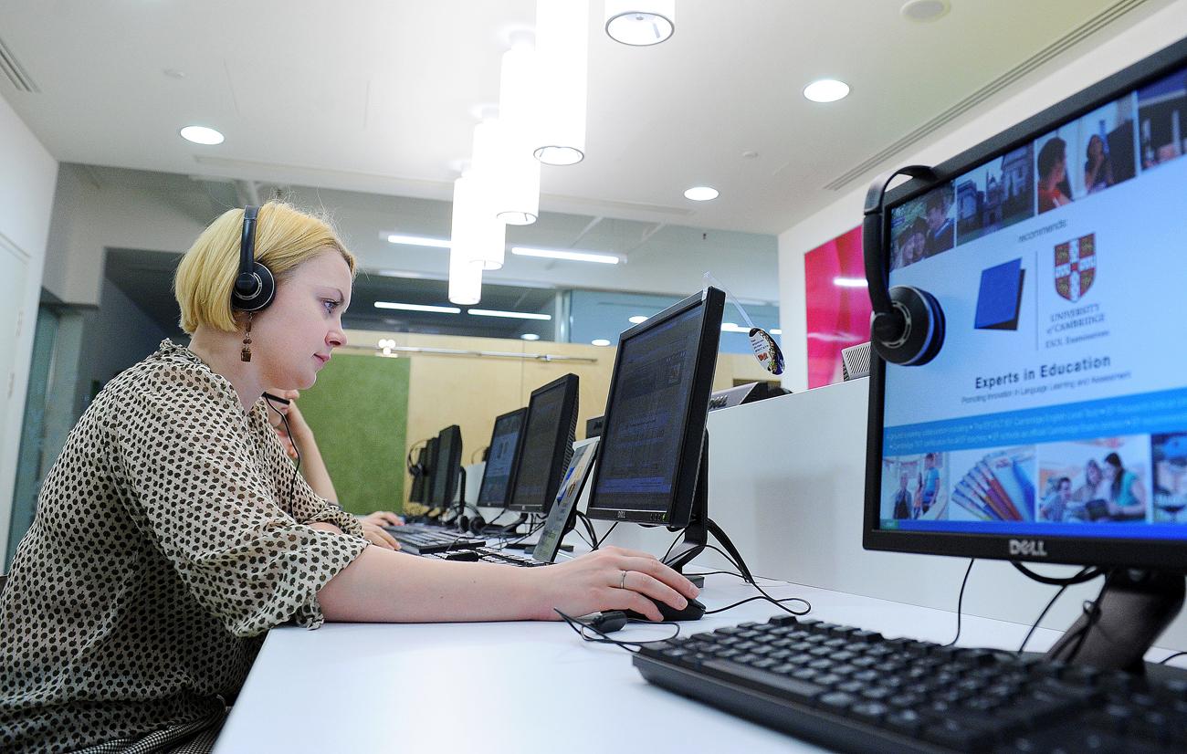 L'apprentissage des langues en ligne en forte croissance en Russie.