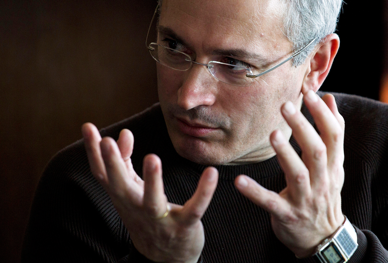 Former imprisoned Russian tycoon Mikhail Khodorkovsky.