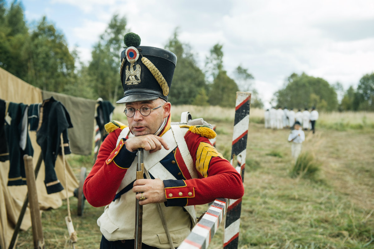 September 3 – 4, 2016: Members of historical clubs, dressed as French and Russian soldiers, take part in the re-enactment of the 1812 battle of Borodino between Napoleon's army and Russian troops.