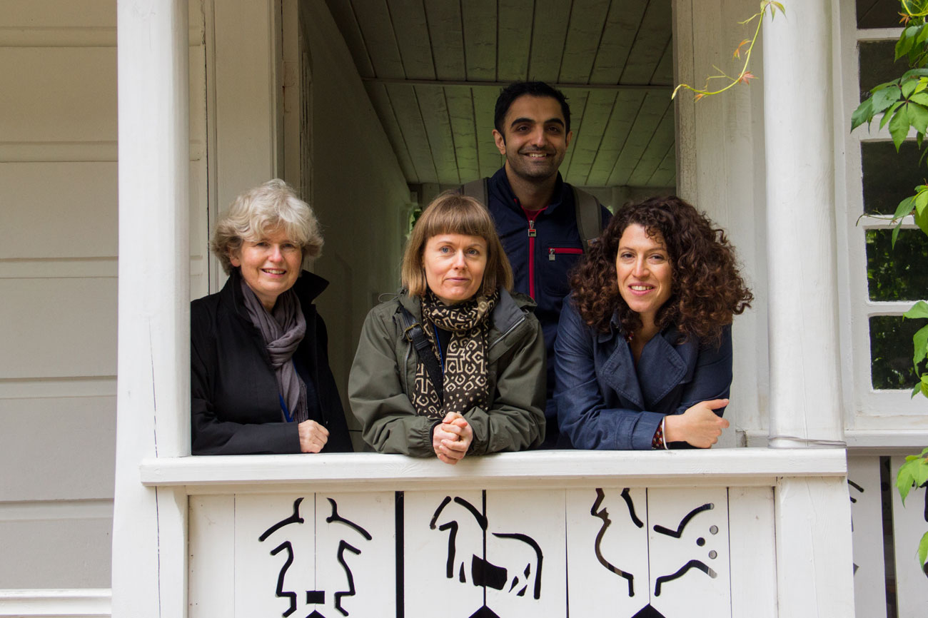 In the Leo's house, pictured L-R: Cortina Butler, the British Council director for literature; Nicola Barker; Sunjeev Sahota and Charlotte Mendelson.