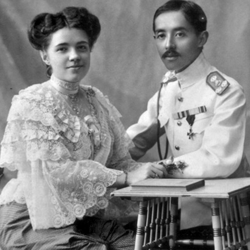 Ekaterina Desnitskaya with Prince Chakrabongse.