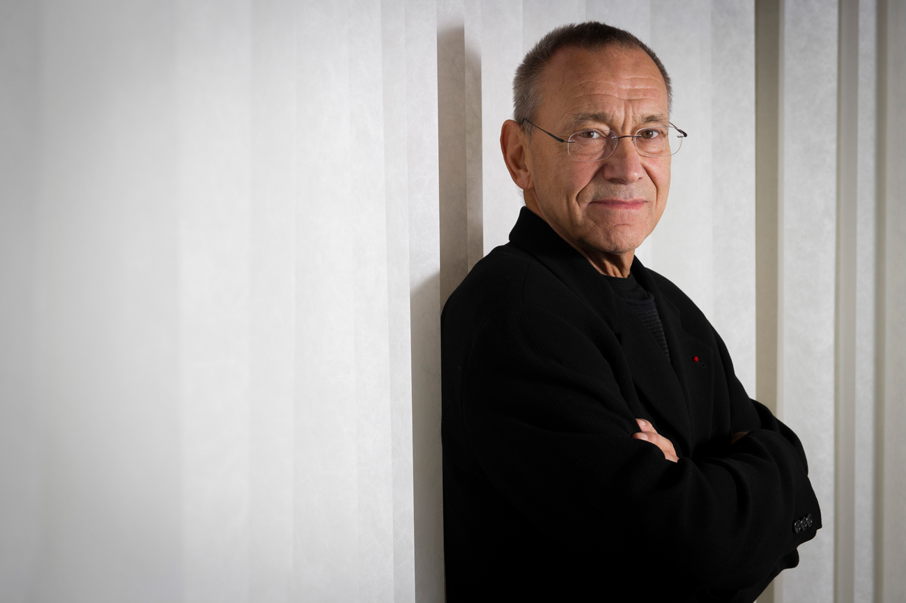 Director Andrei Konchalovsky poses for portraits for the film 'Runaway Train' at the 65th international film festival in Cannes, southern France.