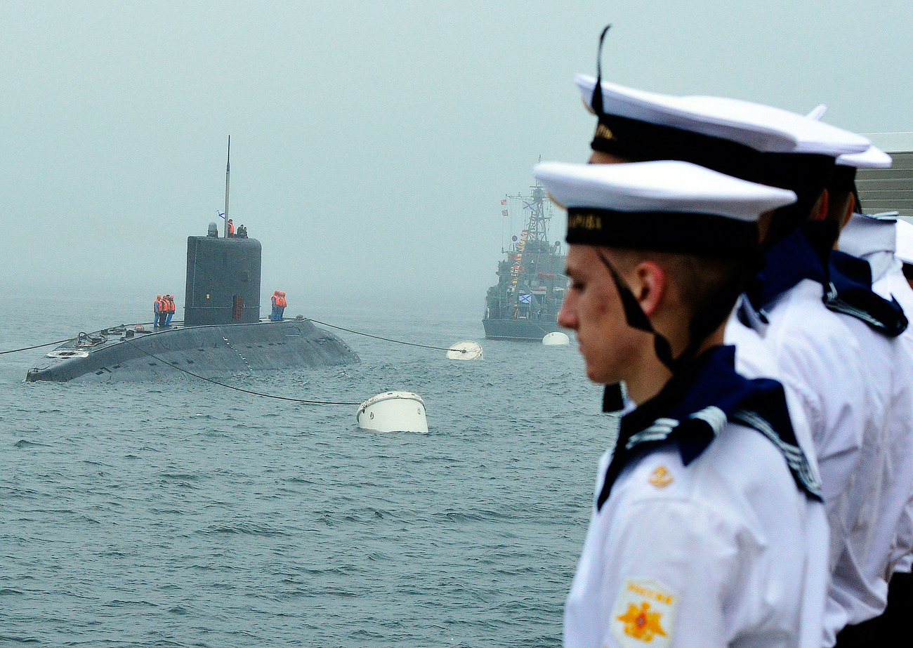 Подводници по проект 636.3 във Владивосток.