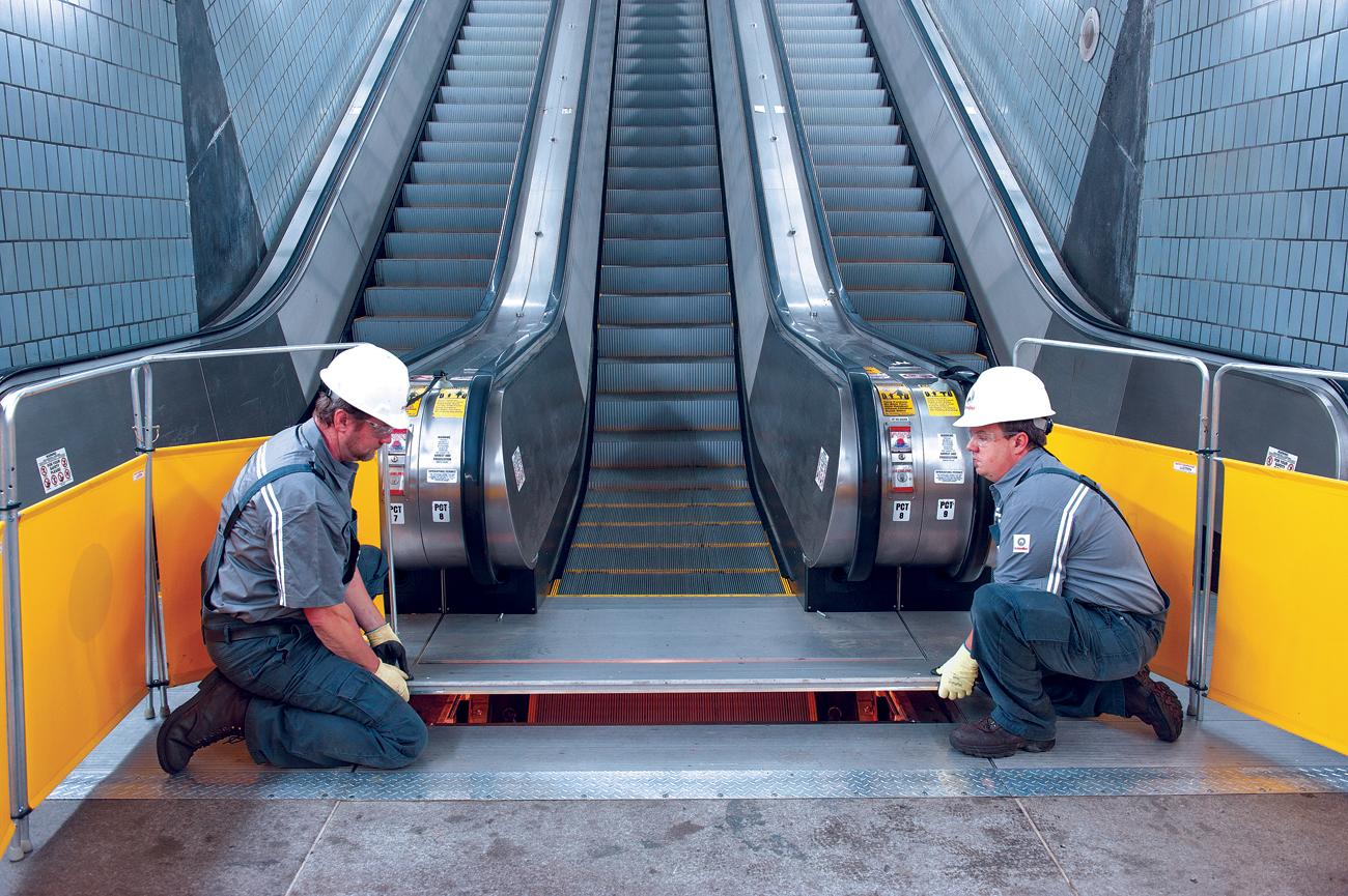 Le groupe Schindler a fourni mille escaliers roulants au métro de Paris et celui de Londres.
