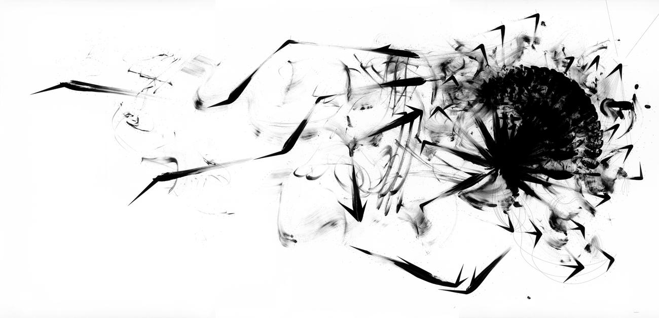 Ralf Ziervogel. Floss, 2016. Ink and gouache on paper
