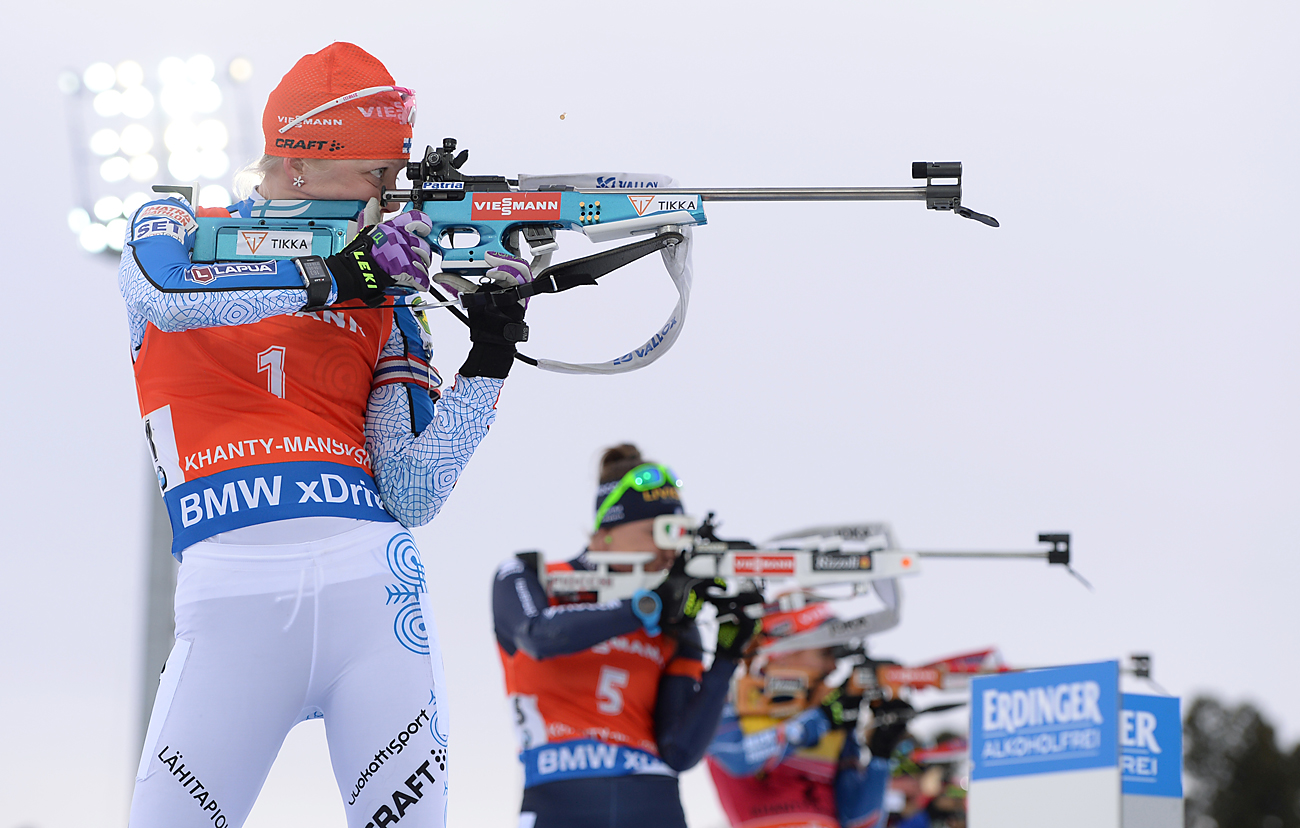 The women's pursuit at the 2015-2016 IBU World Cup Biathlon 9 in Khanty-Mansiysk.