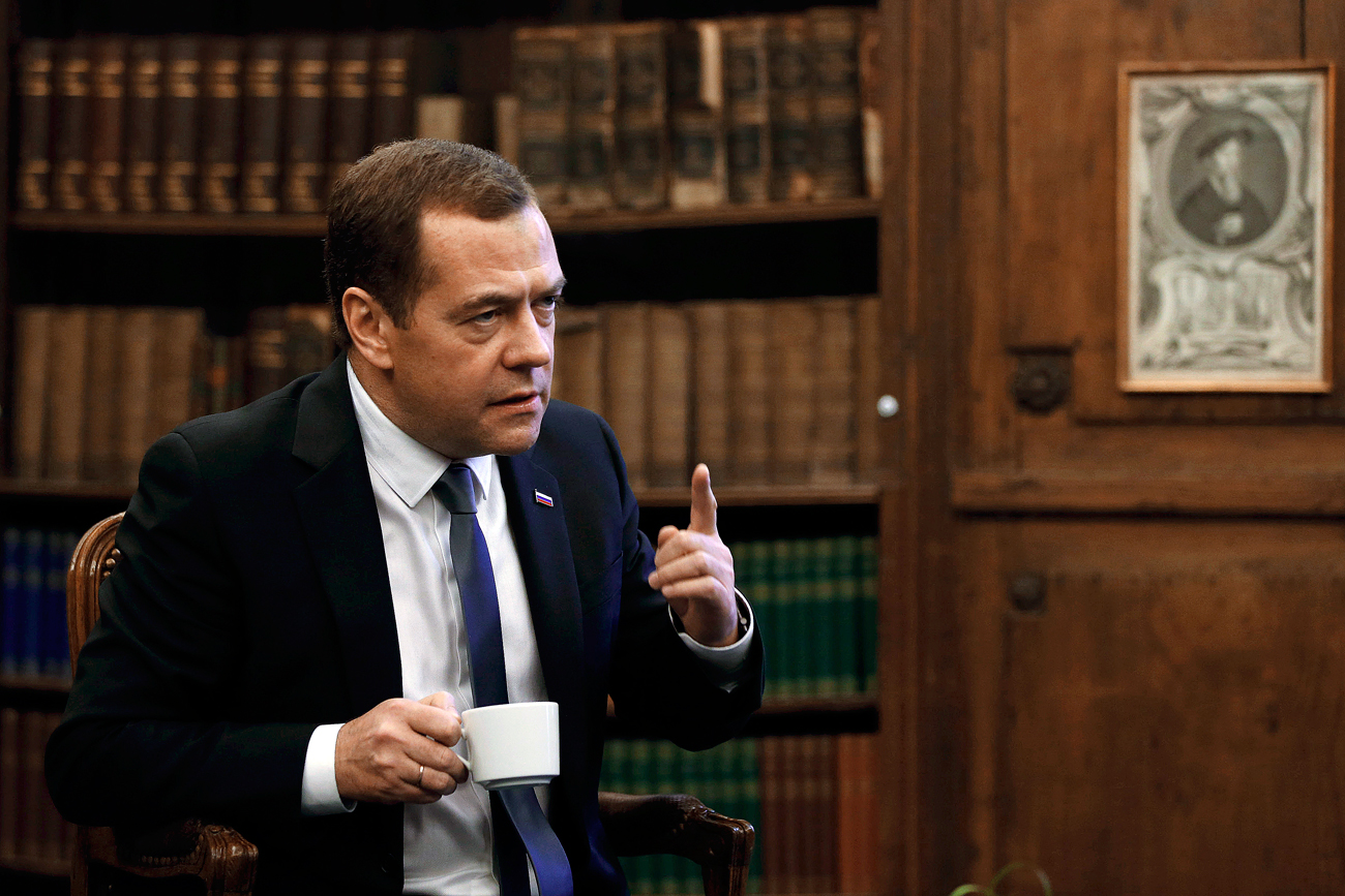 "Dmitry Medvedev: ""Companies are better off than individuals.""  Photo: Russian Prime Minister Dmitry Medvedev."
