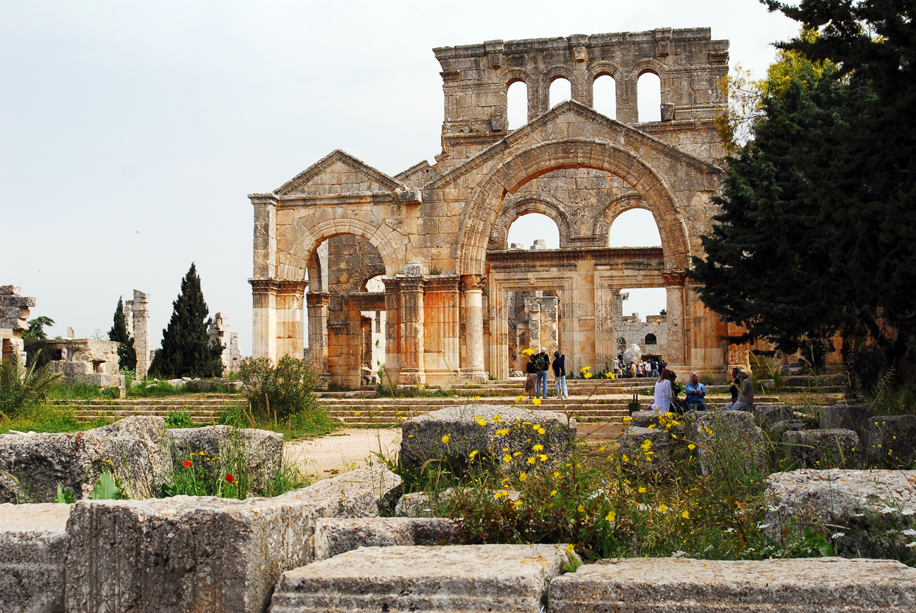 The remains of the Monastery of St. Simeon, Syria.